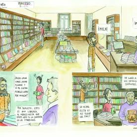 Escena de librería